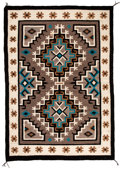 American Indian Art:Weavings, A Navajo Regional Rug. Two Gray Hills...