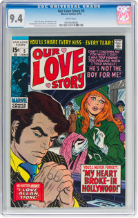 Our Love Story #5 (Marvel, 1970) CGC NM 9.4 White pages