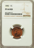 Proof Indian Cents: , 1882 1C PR64 Red NGC. NGC Census: (6/9). PCGS Population: (24/41). CDN: $600 Whsle. Bid for problem-free NGC/PCGS PR64. Min...