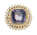 Estate Jewelry:Rings, Ceylon Color-Change Sapphire, Diamond, Gold Ring. ...