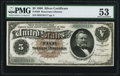 Fr. 263 $5 1886 Silver Certificate PMG About Uncirculated 53