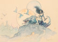 "Original Comic Art:Paintings, Frank Frazetta ""Planet Venus"" Painting Original Art (c. 1970)...."