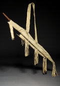 American Indian Art:Pipes, Tools, and Weapons, An Apache Bow Case and Quiver with Bow and Three Arrows...
