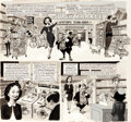 """Original Comic Art:Complete Story, Wally Wood MAD #79 Complete 5-Page Story """"MAD's DiscountCenter Owner of the Year"""" Original Art (EC, 1963).... (Total: 5Original Art)"""