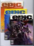 Magazines:Science-Fiction, Epic Illustrated #1-34 Group (Marvel, 1980-86) Condition: Average NM-. The full run of this series is included here! It's # ...