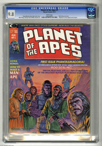 Planet of the Apes #1 (Marvel, 1974) CGC NM/MT 9.8 White pages. Adaptation of the original movie. Bob Larkin cover. Mike...