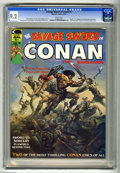Magazines:Miscellaneous, Savage Sword of Conan #1 (Marvel, 1974) CGC NM- 9.2 White pages.Origin and first appearance of Blackmark by Gil Kane. Third...