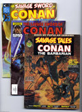 Bronze Age (1970-1979):Miscellaneous, Savage Tales and other Conan Magazines Box Lot (Marvel, 1973-94).Mitra! Fans of Conan and other Robert E. Howard characters...