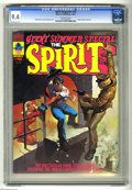 Magazines:Crime, The Spirit #10 (Warren, 1975) CGC NM 9.4 Off-white pages. GiantSummer Special. Will Eisner and Ken Kelly cover. This is the...