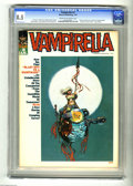 """Bronze Age (1970-1979):Horror, Vampirella #3 (Warren, 1970) CGC VF+ 8.5 Cream to off-white pages.""""Vampi's Scarlet Letters"""" page begins in this issue. Cove..."""