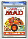 """Magazines:Mad, Worst From Mad #2 Gaines File pedigree (EC, 1959) CGC VF+ 8.5 Off-white to white pages. Includes """"Meet the Mad Staff"""" record..."""