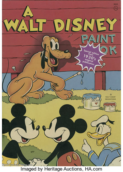 Walt Disney Coloring Book Special Edition Group (Walt | Lot #16704 ...