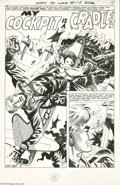 Original Comic Art:Splash Pages, Jack Abel - Army at War #178, Splash page 18 Original Art (DC,1967). This explosive splash page is the first page to the st...