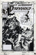 Original Comic Art:Covers, Richard Case - Darkhold: Pages from the Book of Sins #5 CoverOriginal Art (Marvel, 1993). Louise Hastings is caught between...