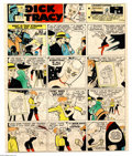 Original Comic Art:Miscellaneous, Chester Gould - Dick Tracy Sunday Color Guide, dated 1-19-64 (TheChicago Tribune, 1964). Miss Egghead tries to cover her mu...