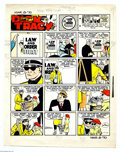 Original Comic Art:Miscellaneous, Chester Gould - Dick Tracy Sunday Color Guide, dated 3-8-70 (TheChicago Tribune, 1970). A blind Dick Tracy and Tinky do a l...