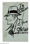 """Original Comic Art:Sketches, Chester Gould - Dick Tracy Sketch Original Art (undated). Primo Dick Tracy pen and ink by Chester Gould. Signed """"To Don Dono..."""