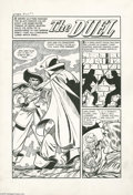 "Original Comic Art:Complete Story, Mo Marcus - Witches Tales #16 Complete 5-page Story ""The Duel""Original Art (Harvey, 1952). Death and swordplay combine for ..."