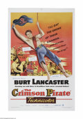 """Movie Posters:Adventure, The Crimson Pirate (Warner Brothers, 1952). One Sheet (27"""" X 41"""").This is a vintage, theater used poster for this swashbuck..."""
