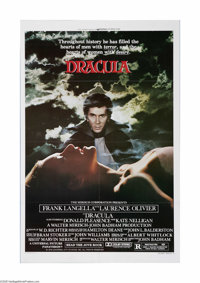 "Dracula (Universal, 1979). One Sheet (27"" X 41""). This is a vintage, theater used poster for this horror film..."