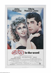 """Grease (Paramount, 1978) One Sheet (27"""" X 41""""). This is a vintage, theater used poster for this musical that w..."""