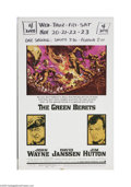 "Movie Posters:War, The Green Berets (Warner Brothers, 1968) Window Card (14"" X 22"").This is a vintage, theater used poster for this war drama ..."