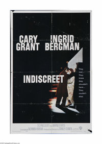 """Indiscreet (Warner Brothers, 1958) One Sheet (27"""" X 41""""). This is a vintage, theater used poster for this come..."""