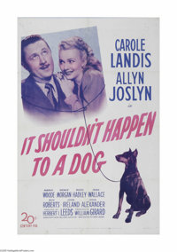 """It Shouldn't Happen to a Dog (20th Century Fox, 1946) One Sheet (27"""" X 41""""). This is a vintage, theater used p..."""
