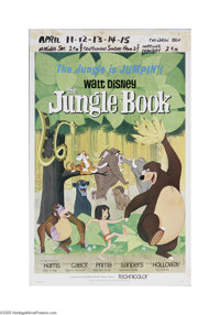 "The Jungle Book (Buena Vista, 1967) Window Card (14"" X 22""). This is a vintage, theater used poster for this a..."