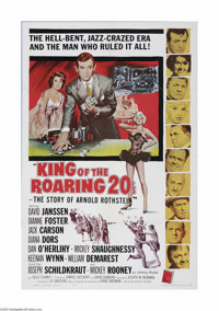 "King of the Roaring 20's (Allied Artists, 1961) One Sheet (27"" X 41""). This is a vintage, theater used poster..."