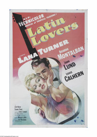 """Latin Lovers (MGM, 1953) One Sheet (27"""" X 41""""). This is a vintage, theater used poster for this comedy that wa..."""