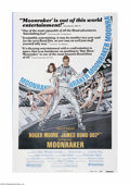 """Movie Posters:Drama, Moonraker (United Artists, 1979). One Sheet (27"""" X 41""""). This is an original, theater used poster for this spy adventure tha..."""