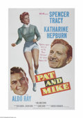 "Movie Posters:Comedy, Pat and Mike (MGM, 1952). One Sheet (27"" X 41""). This is a vintage, theater used poster for this romantic comedy that was di..."