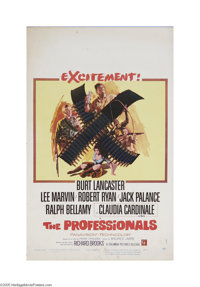 """The Professionals (Columbia, 1966) Window Card (14"""" X 22""""). This is a vintage, theater used poster for this we..."""