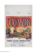 "Movie Posters:Action, Quo Vadis (MGM, 1951) Window Card (14"" X 22""). This is a vintage,theater used poster for this drama that was directed by Me..."