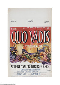 "Quo Vadis (MGM, 1951) Window Card (14"" X 22""). This is a vintage, theater used poster for this drama that was..."