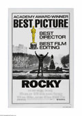"Movie Posters:Sports, Rocky (United Artists, 1977). One Sheet (27"" X 41""). This is a folded, vintage, theater used poster for this fight drama tha..."
