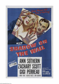 """Movie Posters:Film Noir, Shadow on the Wall (MGM, 1950) One Sheet (27"""" X 41""""). This is a vintage, theater used poster for this film-noir drama that w..."""