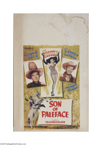 """Son of Paleface (Paramount, 1952) Window Card (14"""" X 22""""). This is a vintage, theater used poster for this wes..."""