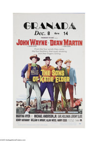 """The Sons of Katie Elder (Paramount, 1965) Window Card (14"""" X 22""""). This is a vintage, theater used poster for..."""