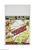 """Movie Posters:Documentary, Tembo (RKO, 1952) Window Card (14"""" X 22""""). This is a vintage, theater used poster for this documentary that was directed by ..."""