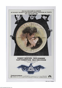 "Three Days of the Condor (Paramount, 1975). One Sheet (27"" X 41""). This is a folded, vintage, theater used pos..."