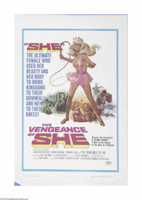 "The Vengeance of She (20th Century Fox, 1968) One Sheet (27"" X 41""). This is a vintage, theater used poster fo..."