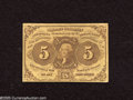 Fractional Currency:First Issue, Fr. 1230 5c First Issue New. Here is a nice original Jefferson that was lightly hinged at one time....