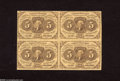 Fractional Currency:First Issue, Fr. 1230 5c First Issue Block of Four Very Fine-Extremely Fine. This block of four saw a little circulation during the Civil...