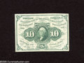 Fractional Currency:First Issue, Fr. 1242 10c First Issue Choice About New. Here is a nice note which exhibits one fold....