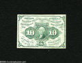 Fractional Currency:First Issue, Fr. 1242 10c First Issue Extremely Fine. The back is printed off-center on this note. Small portions of the backs of two oth...
