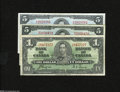 Canadian Currency: , Three Canadian Notes BC21d $1 1937 VG-Fine BC23b $5 1937 TwoExamples VF ... (3 notes)