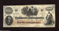 Confederate Notes:1862 Issues, T41 $100 1862. A corner fold is found on this Scroll 2 variety thatis trimmed in slightly at the top left edge. About Unc...