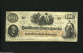 Confederate Notes:1862 Issues, T41 $100 1862. This is a Scroll 1 variety. Extremely Fine....